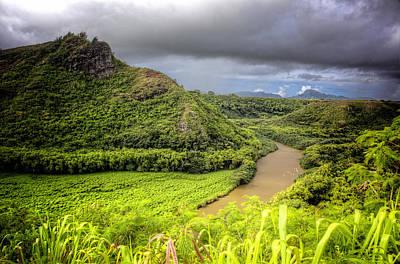 Tropical Scene In Kauai Poster by Vicki Jauron