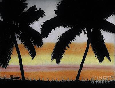 Tropical - Sunset Poster by D Hackett