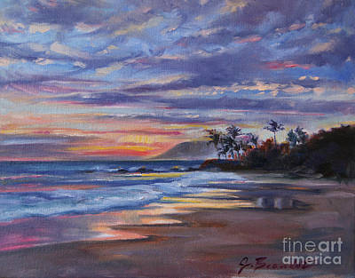 Tropical Sunset Poster by Jennifer Beaudet