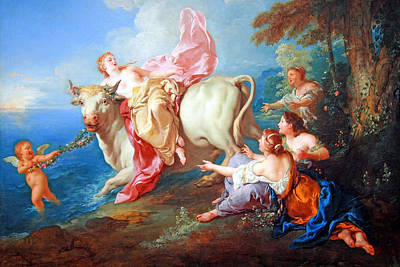 Poster featuring the photograph Troy's The Abduction Of Europa by Cora Wandel