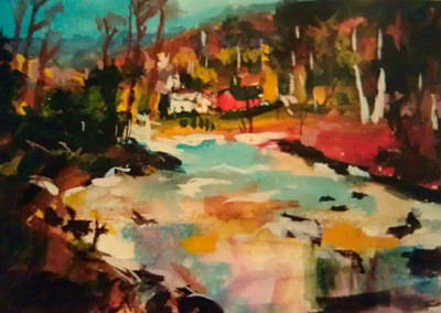 Truckee River Impression Poster