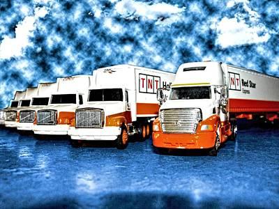 Truckin Poster by Kristie  Bonnewell