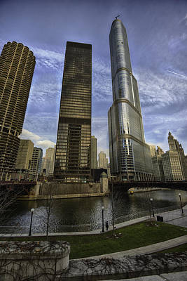 Trump Tower And River Front Poster by Sebastian Musial