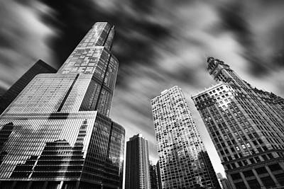 Trump Tower In Black And White Poster by Sebastian Musial