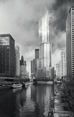 Poster featuring the photograph Trump Tower In Chicago by Steven Sparks