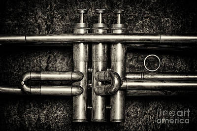 Trumpet Abstract Poster by Tim Gainey