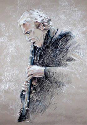 Trumpetist Flamenco Poster by Miki De Goodaboom