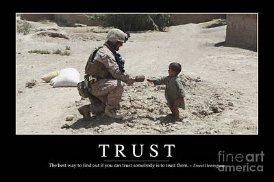Trust Inspirational Quote Poster by Stocktrek Images