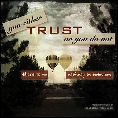 Trust Poster by Mark David Gerson