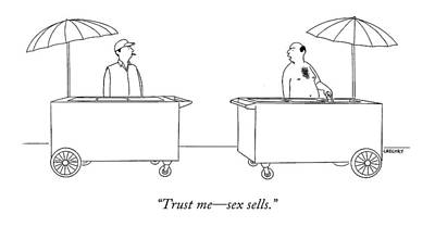 Trust Me - Sex Sells Poster by Alex Gregory