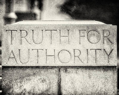 Truth For Authority Lucretia Mott  Poster