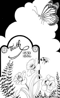 Poster featuring the digital art Truth Time by Carol Jacobs