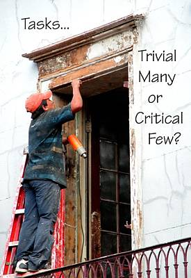 Trvial Many Or Critical Few 21159 Poster by Jerry Sodorff