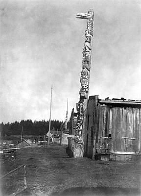 Tsimshian Village, C1914 Poster