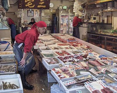Poster featuring the photograph Tsukiji Fish Market Tokyo by Colleen Williams