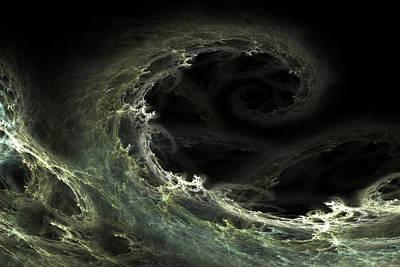 Poster featuring the digital art Tsunami by Richard Ortolano