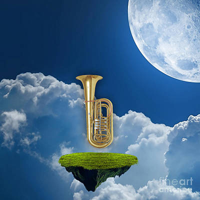 Tuba Dreams Poster by Marvin Blaine