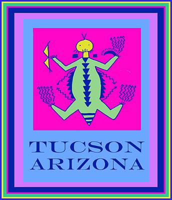Tucson Arizona Shaman Poster by Vagabond Folk Art - Virginia Vivier