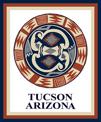 Tucson Arizona  Poster by Vagabond Folk Art - Virginia Vivier