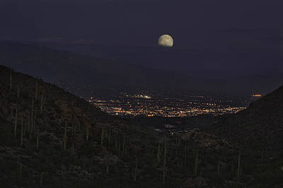 Poster featuring the photograph Tucson At Dusk by Lynn Geoffroy