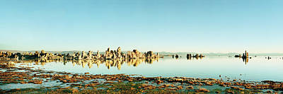 Tufas In A Lake, Mono Lake, Mono Poster by Panoramic Images