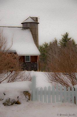 Tuftonboro Barn In Winter Poster
