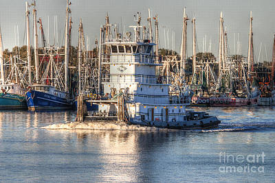 Tug Boat Apollo Port Arthur Texas Poster by D Wallace