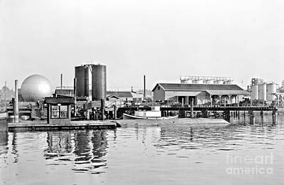 Poster featuring the photograph Tug Boat On The Waterfront by Vibert Jeffers