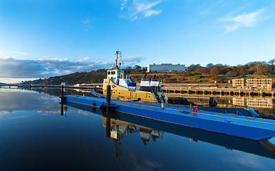 Tugboat Moored At The River Suir Poster by Panoramic Images