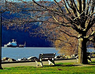 Tugboat On The Hudson River Poster