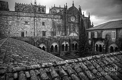 Tui Cathedral Cloister Bw Poster by RicardMN Photography