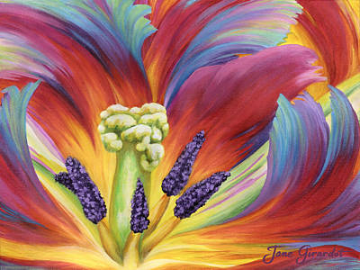 Tulip Color Study Poster by Jane Girardot