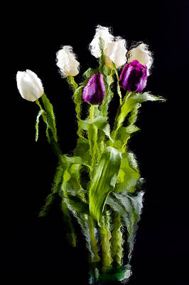 Poster featuring the photograph Tulip Impressions II by Penny Lisowski
