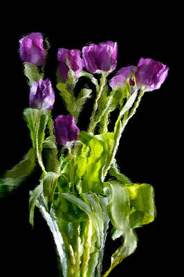 Poster featuring the photograph Tulip Impressions Vi by Penny Lisowski