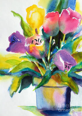 Tulip Pot Poster by Kathy Braud