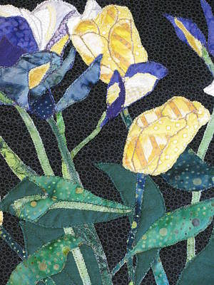 Tulips And Irises Detail Poster by Lynda K Boardman