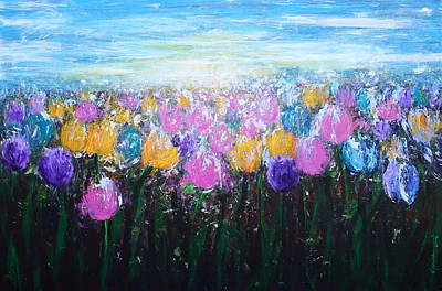 Tulips At Sunrise Poster by Kume Bryant