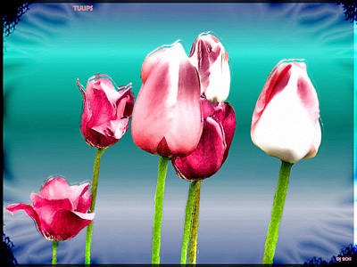 Poster featuring the digital art Tulips by Daniel Janda