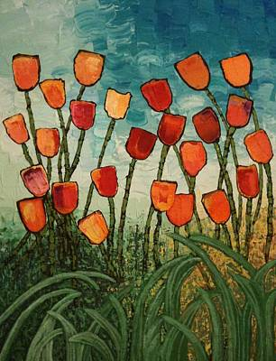 Tulips Poster by Linda Bailey