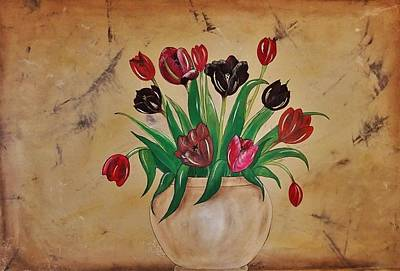 Tulips Of Tuscany 57x41 Poster by Cindy Micklos