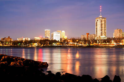 Poster featuring the photograph Tulsa Oklahoma From The Shoreline by Gregory Ballos