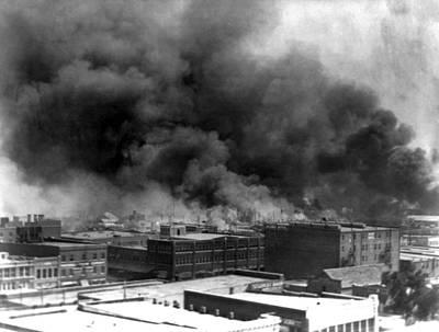 Tulsa. Smoke Billowing Over Tulsa Poster by Everett