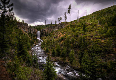 Poster featuring the photograph Tumalo Falls by Matt Hanson
