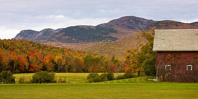 Tumbledown Mountain In The Fall Poster by Benjamin Williamson