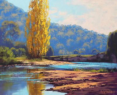 Tumut River Poplar Poster