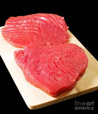 Tuna Steaks Poster by Sinisa Botas