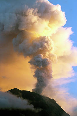 Tungurahua Volcano Erupting Poster by Dr Morley Read