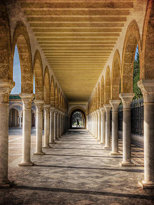 Poster featuring the photograph Tunisian Arches / Monastir by Barry O Carroll