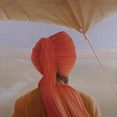 Turbaned Backview With Tenting Poster by Lincoln Seligman
