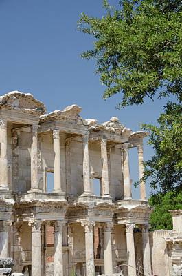 Turkey, Ephesus Celsus Library, Built Poster by Cindy Miller Hopkins